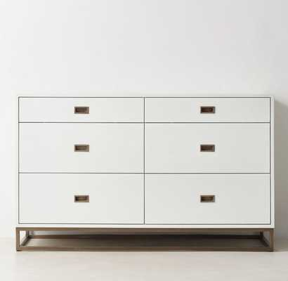 AVALON WIDE DRESSER - Waxed White - RH Teen