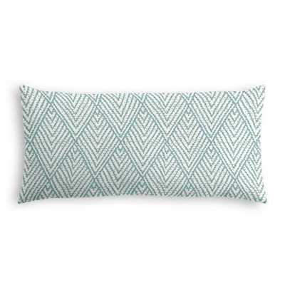 Tribal Blue Diamond Lumbar Pillow - Down insert - Loom Decor