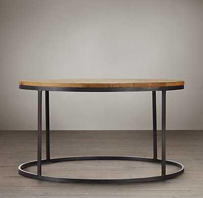 Watts Reclaimed Oak Round Coffee Table - RH