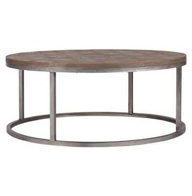 Colby Modern Industrial Loft Reclaimed Wood Coffee Table - Kathy Kuo Home