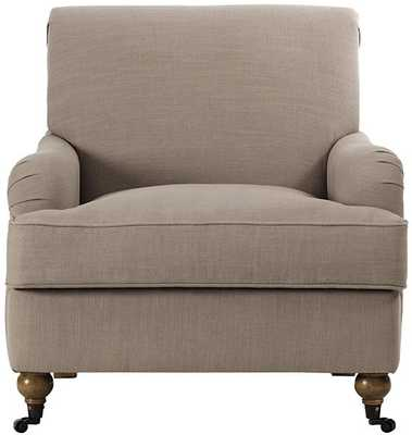 CHARLES ARMCHAIR - NATURAL LINEN - Home Decorators
