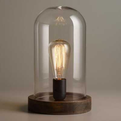 Edison Glass Cloche Table Lamp - World Market/Cost Plus