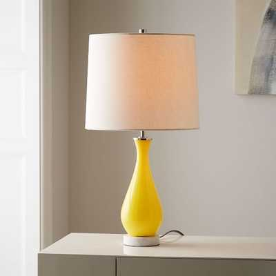Colored Glass Table Lamp - Yellow - West Elm