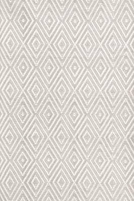 Diamond Platinum/White Indoor/Outdoor Rug-  2' x 3' - Dash and Albert