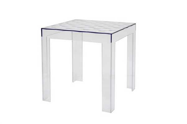 Baxton Studio Parq Clear Acrylic Modern End Table - Lark Interiors