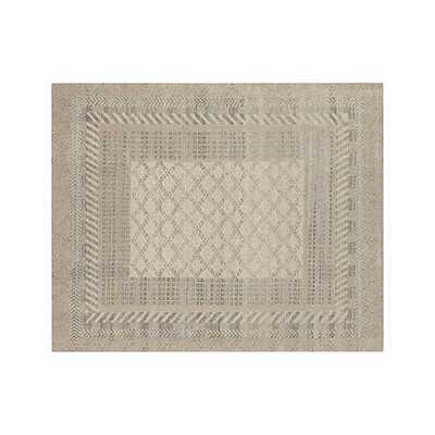 Rosalie Neutral Hand Knotted Oriental Rug - Crate and Barrel