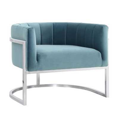 McPherson Sea Anna Chair with Silver Base - Maren Home