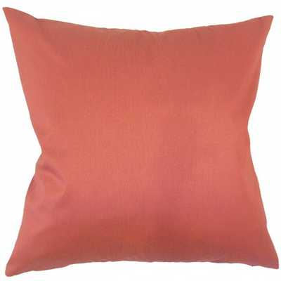 "Aditya Solid Pillow Orange - 18"" x 18"" - With Insert - Linen & Seam"