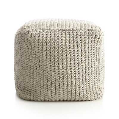 Rowden Pouf - Crate and Barrel