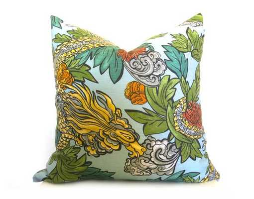"""Ming Dragon Pillow Cover - Insert not included - 18""""x18'' - Willa Skye"""