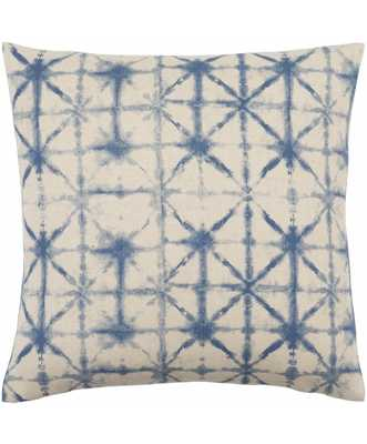 """LUANE PILLOW, WATER - 20"""" x 20"""" - Polyester Filled - Lulu and Georgia"""