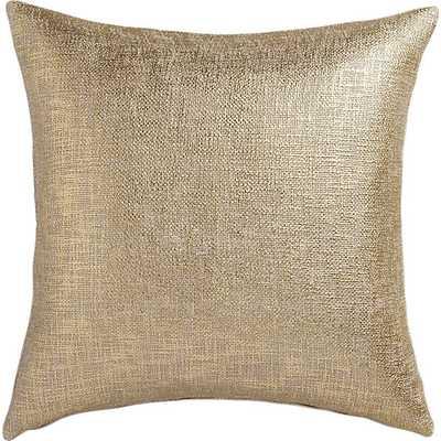 "Glitterati gold 23"" pillow with down-alternative insert - CB2"