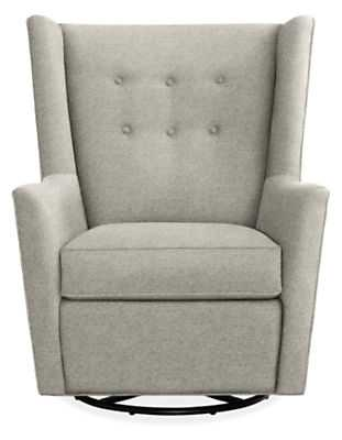 Wren Swivel Glider Chair in Tepic- Cement - Room & Board