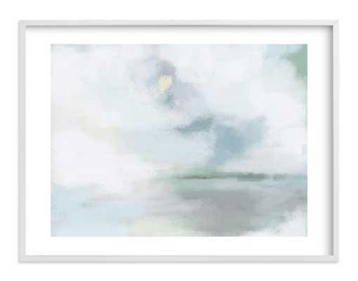 "Monday Blues Art Print - 24"" x 18""-Classic White Frame_ WHITE BORDER - Minted"