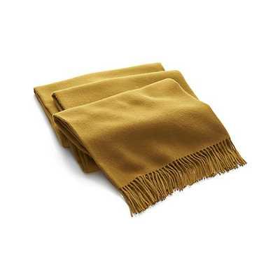 Lima Alpaca Caramel Throw Blanket - Crate and Barrel