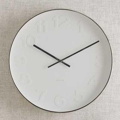 Mr. White Wall Clock - West Elm