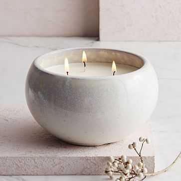 Reactive Glaze Scented Candle - West Elm