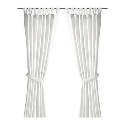 """LENDA Curtains with tie-backs, 1 pair - 55"""" x 98"""" - Ikea"""