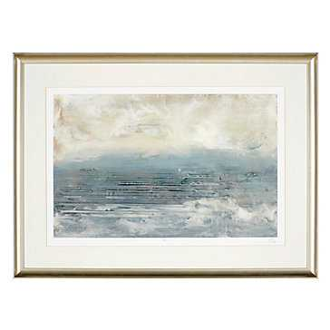 Pale Blue 1 - Framed with Mat - Z Gallerie