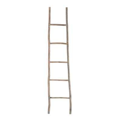 Wood White Washed Ladder - Rosen Studio