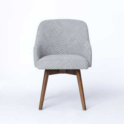 Saddle Office Chair - Painted Stripe Gravel - West Elm