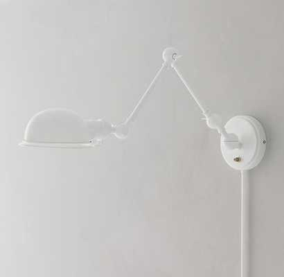 ACADEMY TASK SWING-ARM SCONCE - WHITE - RH Teen