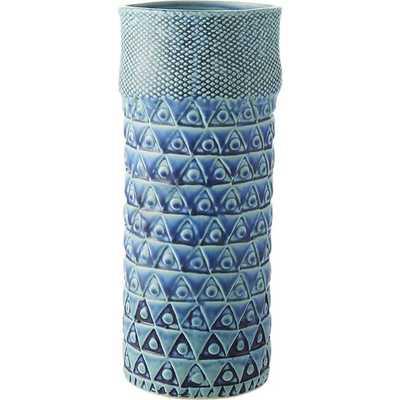 Madison blue vase - CB2
