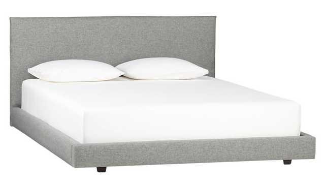 façade king bed (mattress sold separately) bella storm - CB2