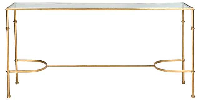 """Lucy 63"""" Console, Gold - One Kings Lane"""