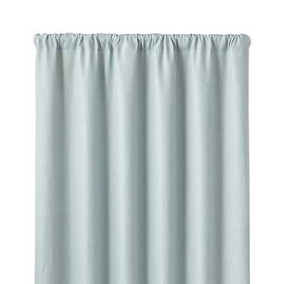 "Largo Aqua Linen 50""x84"" Curtain Panel - Crate and Barrel"