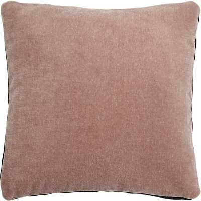 """23"""" Mohair pink pillow - Down insert - CB2"""