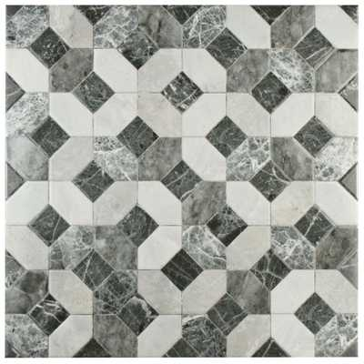 Caprice Marmol Gris Floor and Wall Tile - Home Depot