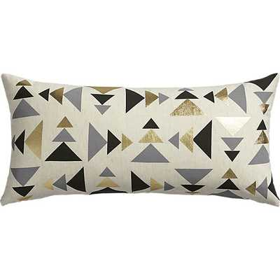 """Blaney 23""""x11"""" Pillow - Feather-Down Insert - CB2"""