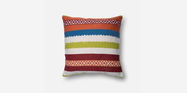 "P0215 MULTI Pillow - 22"" x 22"" - Poly Insert - Loma Threads"