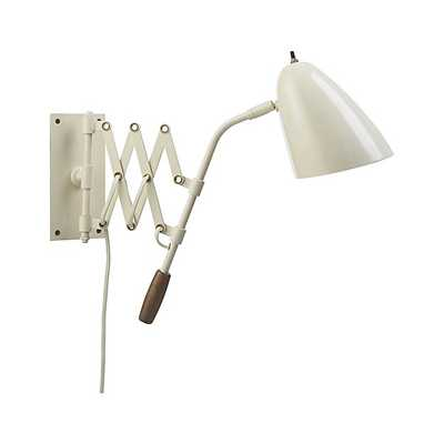 Morgan Ivory Sconce - Crate and Barrel