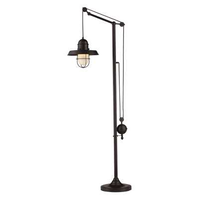Farmhouse 1 Light Adjustable Floor Lamp In Oiled Bronze - Rosen Studio