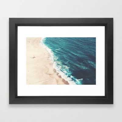 "Beach Nazare Art Print - 10"" x 12"" - Vector Black Frame - Society6"