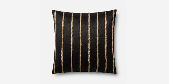 P0443 Black Pillow - Polyester Insert - Loma Threads