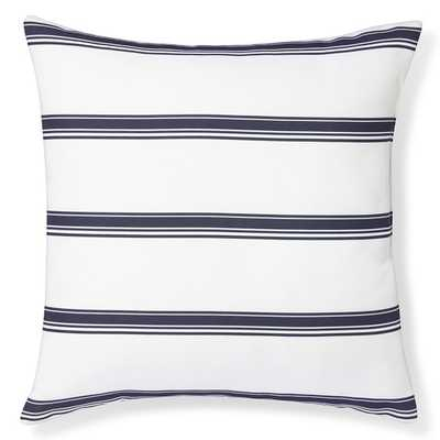 "Outdoor Printed Salinas Stripe Pillow, Navy - 22"" sq. - Polyfill - Williams Sonoma Home"