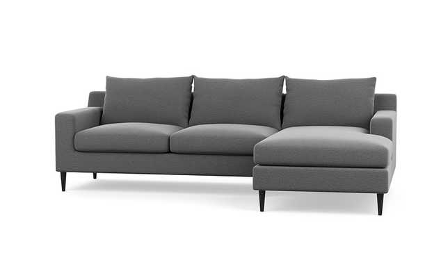 SLOAN FABRIC SOFA WITH RIGHT CHAISE - Interior Define