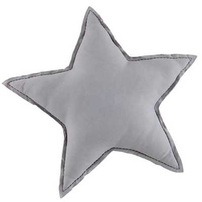 "Grey Star Filled Throw Pillow 15""W x 15""H - With Insert - Land of Nod"