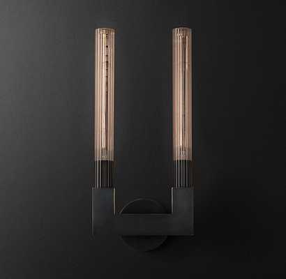 CANNELE DOUBLE SCONCE - Bronze - RH Modern