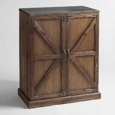 Wood Farmhouse Barn Door Bar - World Market/Cost Plus