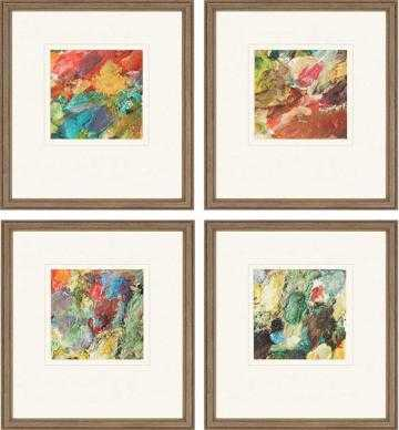 PALETTE FRAMED WALL ART - SET OF 4 - 19x17 - Framed - Home Decorators