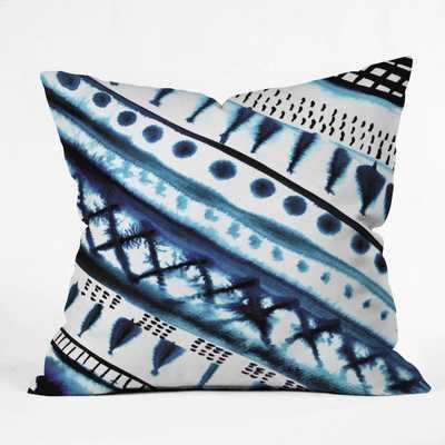 INDIGO STRIPE Outdoor Throw Pillow- insert included - Wander Print Co.