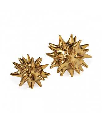 "DWELLSTUDIO BRIGHT GOLD URCHIN - 5.5"" x 5.5"" - Lulu and Georgia"