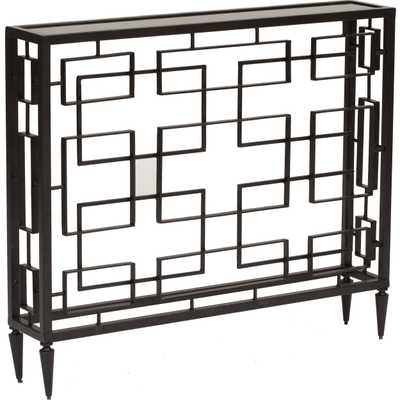 Open Block Console Table - High Fashion Home