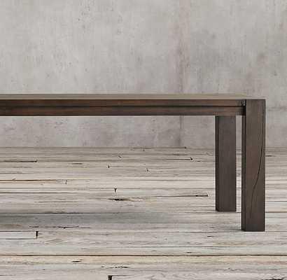 "Reclaimed Russian Oak Parsons Rectangular Dining Table - Reclaimed Brown Oak- 72"" L - RH"