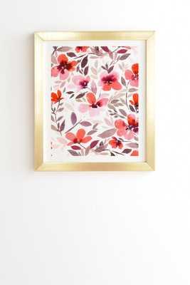ESPIRIT BLUSH Framed Wall Art - Gold frame - With mat - Wander Print Co.