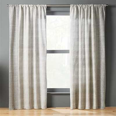block printed stripe curtain panel - CB2